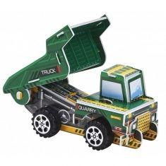 3D-Puzzle Baufahrzeug mit Rückziehmotor