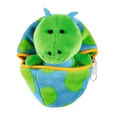 Kuscheliges Dino-Baby im Ei - grün/blau