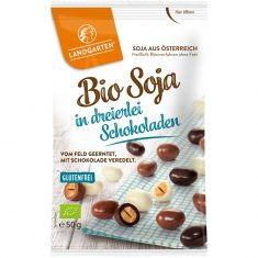 Knabbersnack - Soja Mix in dreierlei Schokoladen, Bio