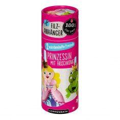 Filzanhänger - 2 märchenhafte Freunde, Prinzessin & Froschkönig