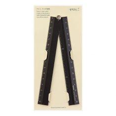 Lineal - Multi Ruler 30 cm schwarz, Midori
