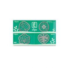 Büroklammern E-CLIPS - Leaf, 16 Stück
