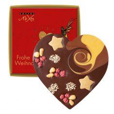 Schokolade Mi-Xing - Herz mit Weihnachtssternen