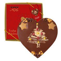 Schokolade Mi-Xing - Herz mit süßem Tannenbaum