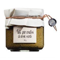 Grüne Olivencreme - Paté crostini di olive verdi