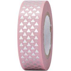 Paper Poetry - Masking Tape, Dreiecke rosa-silber