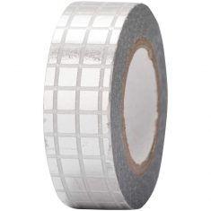 Paper Poetry - Masking Tape, Gitter silber
