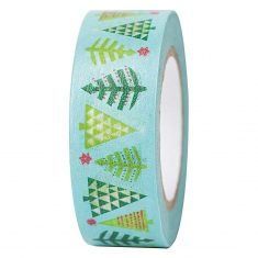 Paper Poetry - Masking Tape, Christmas - Tannenbäume mint