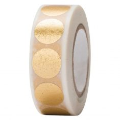 Paper Poetry - Masking Tape, Punkte gold