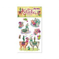 Glitter-Sticker - Lamas