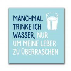 Kühlschrankmagnet - Manchmal trinke ich Wasser