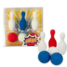 Radiergummis - Bowling Strike, 6er-Set