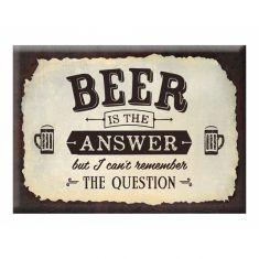 Kühlschrankmagnet - Beer is the answer...
