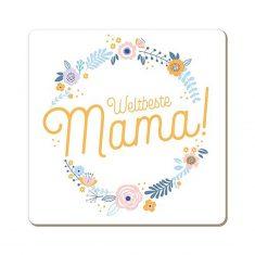 Korkuntersetzer - Weltbeste Mama!