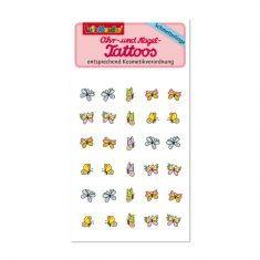 Ohr- und Nagel Tattoos  - Schmetterlinge