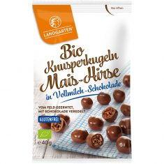 Knusperkugeln - Mais-Hirse in Vollmilch-Schokolade, Bio