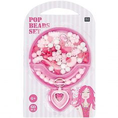 Pop Beads Set - weiß/rosa/pink