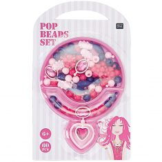 Pop Beads Set - rosa/pink/lila