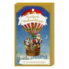 Nostalgische Weihnachtszeit - 24 Geschenkanhänger