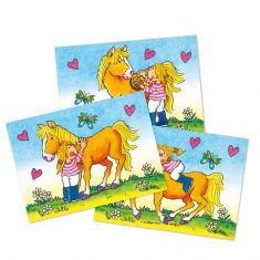 Wackelbild-Postkarte - Mein Ponyhof