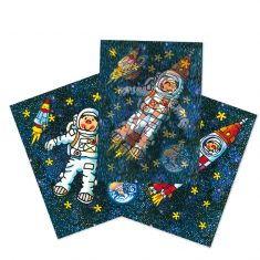 Wackelbild-Postkarte - Astronaut