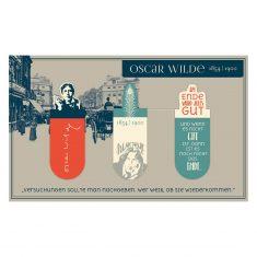 Magnetisches Lesezeichen - Oscar Wilde, 3er-Set