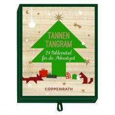 Adventsschachtelspiel: Tannen-Tangram - 24 Bilderrätsel