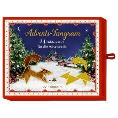 Schachtelspiel Advents-Tangram - 24 Bilderrätsel