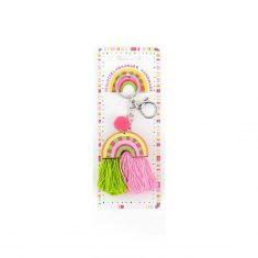 Schlüsselanhänger Regenbogen - GOOD FEELINGS, grün-rosa