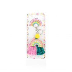 Schlüsselanhänger Regenbogen - GOOD FEELINGS, rosa-türkis