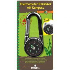 Expedition Natur - Thermometer-Karabiner mit Kompass