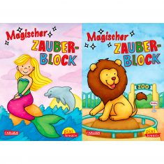 Pixi kreativ - Magischer Zauberblock, Zoo + Unter Wasser