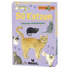 Kartenset - Expedition Natur, 50 Katzen