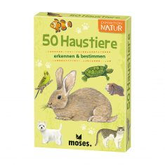 Kartenset - Expedition Natur, 50 Haustiere