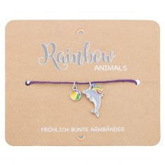 Armband - Rainbow Animals, Delphin