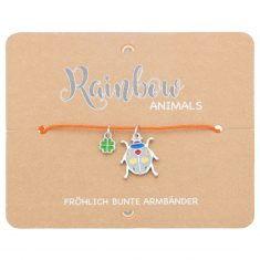 Armband - Rainbow Animals, Marienkäfer