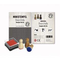 Mini Stempel - Stempelset 3er, Baustelle