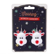 Blinkende Rudolph-Ohrringe