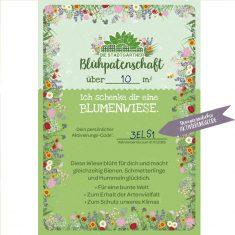 Blühpatenschaft - 10 m² Blumenwiese