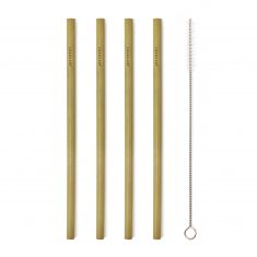 Bambus-Trinkhalme - Natural Bamboo Straws, 8er-Set