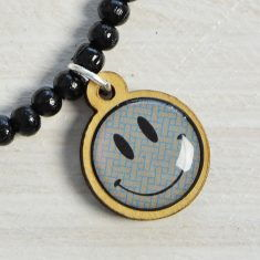 WoodPin Armband - Smiley