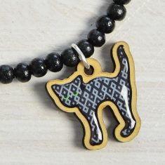 WoodPin Armband - Katze