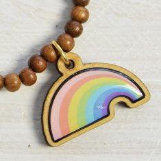 WoodPin Armband - Regenbogen