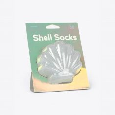 Socken one size - Shell Socks, silber