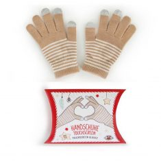 Filou's Wishes Touchscreen-Handschuhe one-size, beige