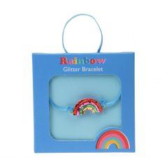 Glitter-Armband - Rainbow
