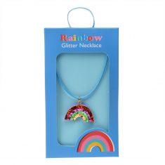 Glitter-Halskette - Rainbow