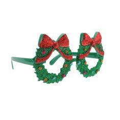 Spaßbrille - Weihnachtskranz