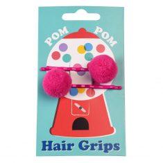 Haarspangen - Pom Pom, pink