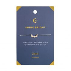 Hanf-Armband, Shine Bright - 3 Sterne, gold